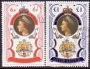 GIBRALTAR 1977 SG #371-72 Compl.set Used Silver Jubilee - Gibraltar