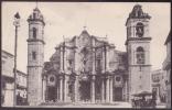 POS-100 CUBA 1911 POSTCARD HABANA HAVANA CATEDRAL CHURCH TO FRANCE. - Cuba
