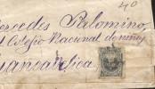G)1887 PERU, COAT OF ARMS, CIRCULATED COVER TO HUANCAVELICA, F - Peru