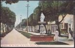 POS-118 CUBA CIRCA 1920 POSTCARD HABANA HAVANA PASEO DEL PRADO Y FUENTE DE NEPTUNO. PRADO STREET UNUSED - Cuba