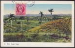 POS-92 CUBA 1925 POSTCARD BAHIA HONDA PAISAJE CAMPESTRE LANDSPACAPE COUNTRY TO FRANCE FRANCIA - Cuba