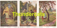 SERIE DE 6 CPA ILLUSTRATEUR OTTO KUBEL PINX CONTE HISTOIRE ARTIST SIGNED FAIRY TALE ** FRAU HOLLE - Vertellingen, Fabels & Legenden