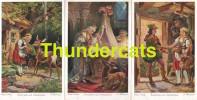 SERIE DE 6 CPA ILLUSTRATEUR G HINKE   PINX CONTE HISTOIRE ARTIST SIGNED FAIRY TALE ** BRUDERCHEN UND SCHWESTERCHEN - Contes, Fables & Légendes