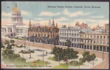 POS-98 CUBA 1948 POSTCARD HABANA HAVANA HOTEL INGLATERRA CAPITOLIO PARQUE CENTRAL. CENTRAL PARK, CAPITOL, INGLATERRA HOT - Cuba