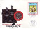 1988-CE-30 CUBA 1988. SPECIAL CANCEL  AND COIN. CHESS AJEDREZ.  CENTENARIO DE JOSE RAUL CAPABLANCA. - Kuba