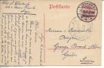 """Entier Postal  Germania 10centimes De Liège > Genève """"auslandstelle Aachen / Freigegeben - WW I"""
