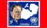 ZAMBIA  - Usato - 2005 - 100 Anni Della Nascita Di Dag Hammarskjold, Diplomatico - 1.500 - Zambia (1965-...)