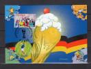 """FRANCE 2006 : Carte Maximum """" ALLEMAGNE 2006 : LE CONTROLE / LES SUPPORTERS """". N° YT 3907 3911. Parfait état. CM"""