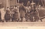FUNERAILLES DU ROI ALBERT VOITURE DEVANT L'EGLISE - Funérailles