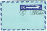 ONU - NAZIONI UNITE - UNITED NATIONS - NATIONS UNIES - 1968 - Aerogramme - New York - FDC - New York - Sede Centrale Delle NU