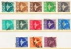INDIA 275-87   (o)   MAP - 1950-59 Republic