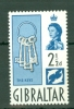 Gibraltar: 1960/62   QE II - Pictorial     SG163a    2½d   Black & Grey-blue   MH - Gibraltar