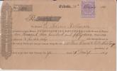 India  QV  1 Anna  Revenue ON Promisory Note ( Hundi ) # 87831  Inde Indien  India Fiscaux Fiscal Revenue - Andere