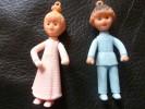 Figurines NICOLAS Et PIMPRENELLE - Série TV  Années 70 - Figurines