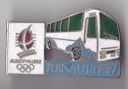 PIN´S  THEME  TRANSPORT  BUS  RENAULT  JEUX OLYPIQUES ALBERVILLE - Transportation