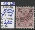 "1.9.1890 - FM/DM ""Kaiserkopf nach links"" 12 Kreuzer tiefrosa Lz 12 - o gestempelt - siehe Scan (55Do)"