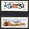 FRANCE - 2015 - VIGNETTE LISA - SALON PHILATELIQUE D´AUTOMNE - LISA 1 + LISA 2 - 0.68 Euro - Lettre Verte - - 2010-... Vignettes Illustrées