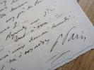 Paulin PARIS (1800-1881) Historien MOYEN AGE - Médiéviste - - Autographs