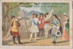 """Chromo """"louis XIV Remet à Turenne L E Drapeau D'Henri IV -2 Photos - Chromos"""