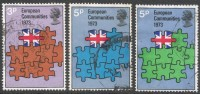 Great Britain. 1973 British Entry Into European Communities.  Used Complete Set. SG 919-921 - 1952-.... (Elizabeth II)