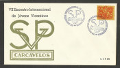 Portugal Cachet Commémoratif  Reencontre Jeunes Saint-Vincent-de-Paul Carcavelos 1969 Event Postmark St. Vincent De Paul - Christianity