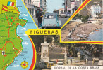 España--Gerona--1972--Figueras--Varias Vistas--Fechador-Figueras-a, Saint Quentin, Francia - Mapas