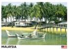 Marang Coastal Village Lagoon With Fishing Boats, Malaysia - Yacine 45816 Unused, 17 X 12 Cm - Malaysia
