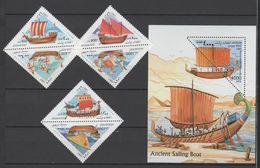 Afghanistan 1997 Mi 1740-1745 + Block 96(1746) Old Sailing Ships / Alte Segelschiffe **/MNH - Bateaux