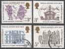 Great Britain. 1973 400th Birth Anniv Of Indigo Jones.  Used Complete Set. SG 935-938 - 1952-.... (Elizabeth II)