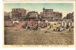 """De Panne-La Panne-+/-1950-Het Strand En De Zeedijk-La Plage Et La Digue-cabines De Bain """"Oscar""""-colorisée - De Panne"""