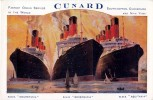 "PAQUEBOT - CUNARD - FASTEST OCEAN SERVICE IN THE WORLD : ""MAURETANIA"" / ""BERENGARIA"" / ""AQUITANIA"" ~ 1925 - ´30 (t-268) - Steamers"