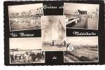 Un Bonjour De Middelkerke-1961-Multivues-Plage-Casino-Chars à Voile-Aérodrome-tennis - Middelkerke