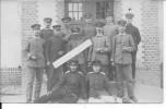 Bapaume Officiers Et Soldats Allemands Devant Une Habitation 1 Carte Photo 1914-1918 14-18 Ww1 Wk1 - War, Military