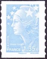 France Autoadhésif N°  489 ** Au Modèle 4476 - Marianne De Beaujard - Le 1.35 Eur. Bleu Ciel - France