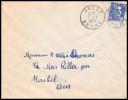 Crest  (Rhone) Cachet A7 Sur Marianne Gandon 15fr Bleu - Postmark Collection (Covers)