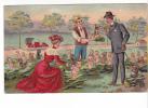 25337 Série Enfant Enfants Choux Chien Voiture Singe Couple -ed J.C. Paris En Relief - Femme Rouge - Enfants