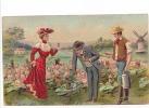 25339 Série Enfant Enfants Choux Chien Voiture Singe Couple -ed J.C. Paris En Relief - Moulin Femme Rouge - Enfants