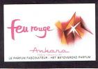 Carte Parfum  -  ANKARA - FEU ROUGE - Paris-Bruxelles - Le Parfum Fascinateur - Perfume Cards