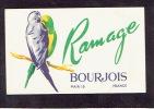Carte Parfum  -  BOURJOIS - RAMAGE  -  Paris - Perfume Cards