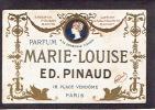 Carte Parfum  - MARIE-LOUISE De ED. PINAUD - A La Corbeille Fleurie Paris - Calendrier De 1907 Au Verso - Perfume Cards