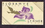 Carte Parfum  - FLORAMYE De L.T.PIVER - Paris - YVONNE - Art, Beauté, Coiffure à JETTE - BRUXELLES - Perfume Cards