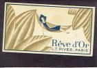 Carte Parfum  -  REVE D´OR De L.T. PIVER - Paris - Gaston SEMAL Parfumerie à JEUMONT (Nord) - Perfume Cards