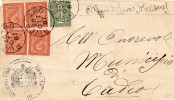 RIVERGARO Piacenza 1887 - CIFRA DE LA RUE CENT. 1 + DUE COPPIE CENT. 2  - SX164 - Neufs