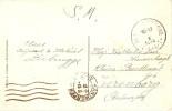 Courrier conserv� � Blankenberghe pdt la guerre / Post� oct 14/ arriv�e 18 m�canique Antwerpen/Anvers de fortune voir no