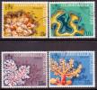 GILBERT & ELLICE 1972 SG #199-202 Compl.set Used Coral - Îles Gilbert Et Ellice (...-1979)