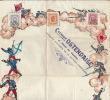 Exceptionnel Papier D'emballage Cremerie Ostendaise Ostende Laiterie D'oostcamp Japon Militaire Timbre - Historische Dokumente