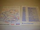 CYCLISME CARTE TOUR De FRANCE 1989 PARISIEN EQUIPE AVEC LISTE ETAPES Format A4 - Sport