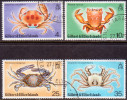 GILBERT & ELLICE 1975 SG #243-46 Compl.set Used Crabs - Îles Gilbert Et Ellice (...-1979)