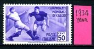 ITALIA - REGNO - Year 1934 - Nuovo -news - MLH*. - Nuovi