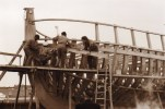 PHOTOGRAPHIE 15/10 CM Du Bateau LE RENARD Lors De Sa Construction à SAINT MALO - Bateaux